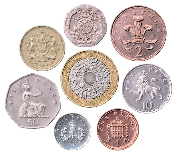 The coins of the United Kingdom